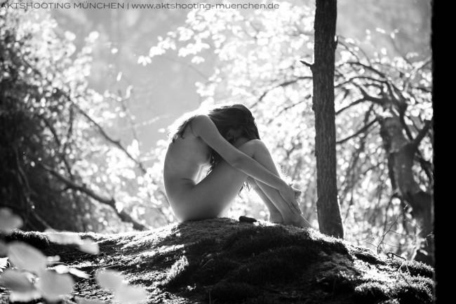 Akt in der Natur Fotoshooting München